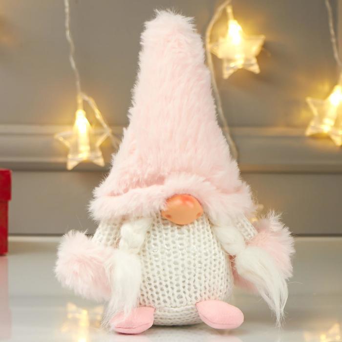 Кукла интерьерная Бабусечка в розовом колпаке 21х8х12 см