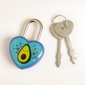 Замочек для чемодана с ключами «Авокадо» Ош