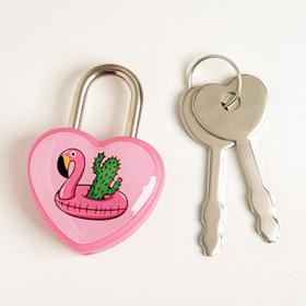 Замочек для чемодана с ключами «Фламинго» Ош