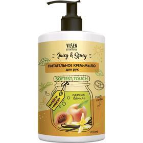 Крем-мыло для рук Vilsen Cosmetic Juicy & Spicy «Персик и ваниль», питательное, 700 мл