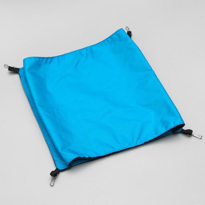 Гамак двойной для крыс, с 4 карабинами, 17 х 18 см, оксфорд/флис, синий