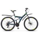 "Велосипед 27,5"" Stels Focus MD, V010, цвет серый/желтый, размер 19"""