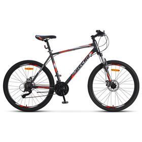Велосипед 26' Десна 2650 MD, V010, цвет серый/красный, размер 18' Ош