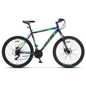 Велосипед 27,5' Десна 2710 D, V010, цвет cиний/зелёный, размер 19' Ош