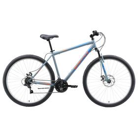 Велосипед 29' Black One Onix D, цвет серый/оранжевый/голубой, размер 18' Ош