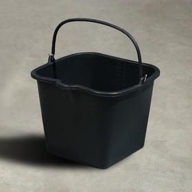 Ведро строительное, 16 л, резинопластик, квадратное с носиком