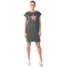 Платье-футболка женское Fullallert, размер 52, цвет хаки Ош