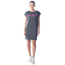 Платье-футболка Roses, размер 50, цвет антрацитовый