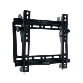 """Кронштейн Rexant 38-0320, для ТВ, наклонный, 17-42"""", 26 мм от стены, чёрный"""