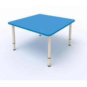 Стол детский регулируемый, 4-х местный, 700 × 700 × 400 мм, группа 0-3, цвет синий Ош