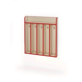 Вешалка настенная на 5 крючков «Азбука», 696 × 124 × 790 мм, цвет бежевый / красный Ош