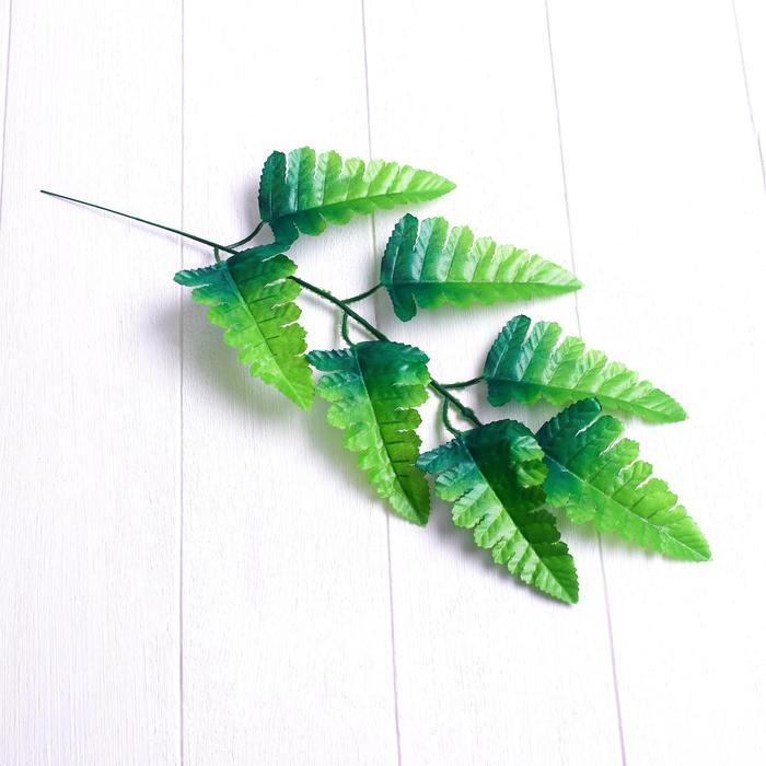 Лист искусственный, 7 листочков, 40 × 17 см