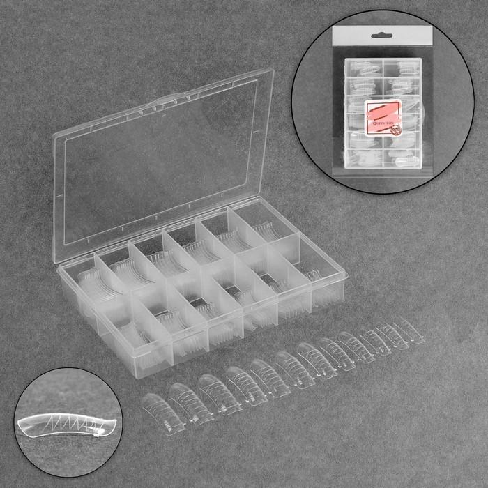 Верхние формы для наращивания в контейнере, D-изгиб, 120 шт