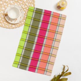 Полотенце вафельное РАДУГА 002 30х50, розово-зеленый, хлопок 100%, 220г/м2