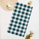 Полотенце рогожка Vita 069 40х70 см, темно-зеленый, хлопок 100%, 180г/м2