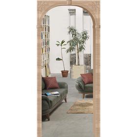 Арка «Верона», 610 - 1240 × 200 × 2150 мм, МДФ, покрытие ПВХ, цвет дуб сонома светлый Ош