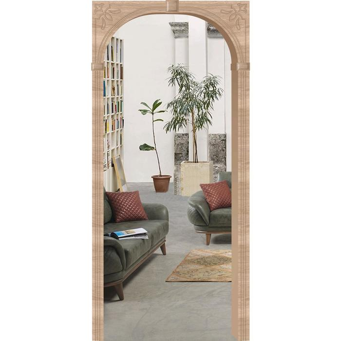 Арка «Верона», 610 - 1240 × 200 × 2150 мм, МДФ, покрытие ПВХ, цвет дуб сонома светлый