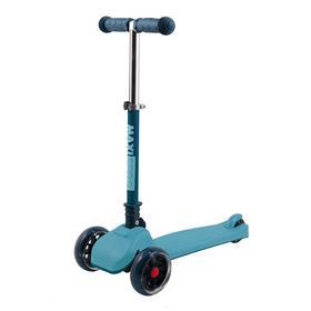 Самокат Maxiscoo Mini со светящимися колесами, цвет голубой
