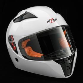 Шлем мото HIZER 532, размер L, белый Ош