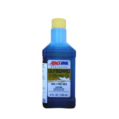 Моторное масло для 2Т лод.мот. AMSOIL Outboard Synthetic 100:1 Pre-Mix  2-Stroke Oil, 0,236л   51946 - Фото 1