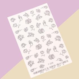 Слайдер-дизайн для ногтей «Цветы»