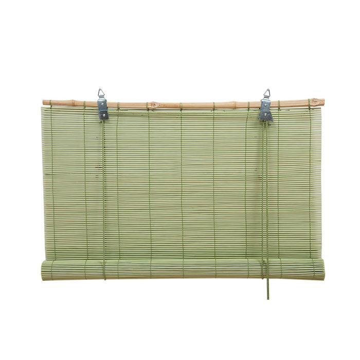 Бамбуковая рулонная штора, 120х160 см, цвет мятный