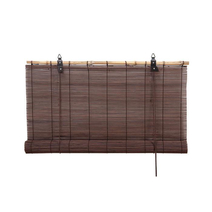 Бамбуковая рулонная штора, 80х160 см, цвет шоколадный