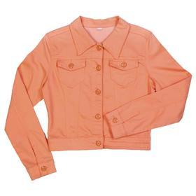 Куртка джинсовая для девочек, рост 140 см, цвет коралловый Ош