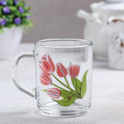 Кружка «Весенние тюльпаны», 200 мл, без упаковки - Фото 1