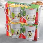 Набор кружек «Авокадо», 300 мл, 2 шт, в подарочной упаковке, МИКС - Фото 5