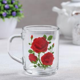 Кружка «Алая роза», 200 мл, без упаковки