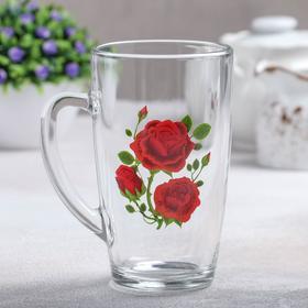 Кружка GiDGLASS «Алая роза», 400 мл