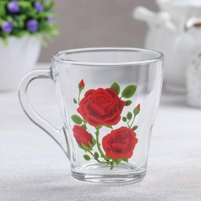Кружка «Алая роза», 250 мл - Фото 1