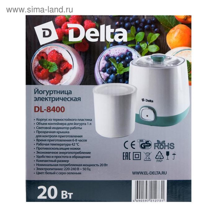 Йогуртница DELTA DL-8400, 20 Вт, 1 л