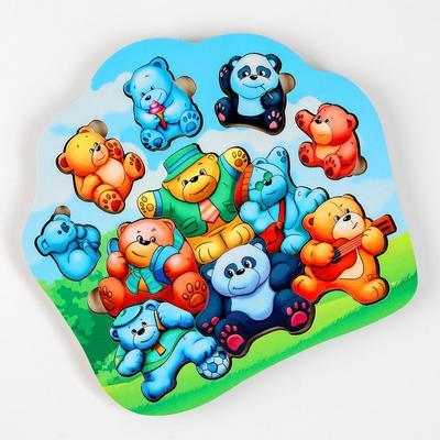 Пазл - вкладыш «Мишки - малышки» (бизиборды) - Фото 1