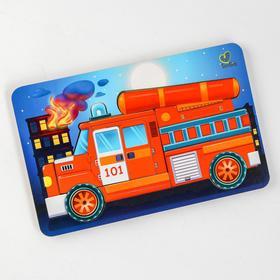 Пазл - конструктор «Пожарная машина» (бизиборды)