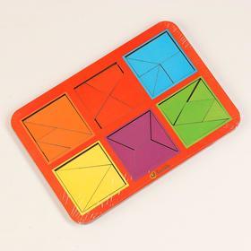 Квадраты Никитина 2 уровня, 6 квадратов (бизиборды)