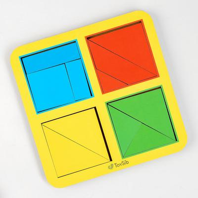 Квадраты Никитина 1 уровня, 4 квадрата (бизиборды) - Фото 1