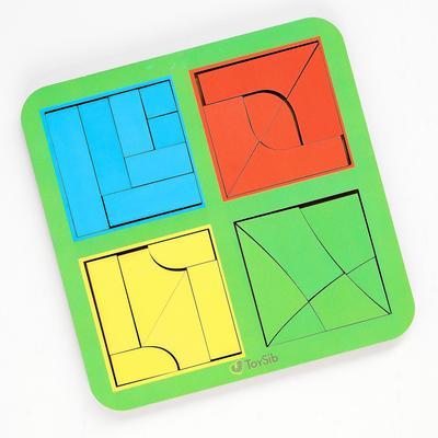 Квадраты Никитина 3 уровня, 4 квадрата (бизиборды) - Фото 1
