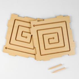 Графомоторный лабиринт «Квадрат» (бизиборды)
