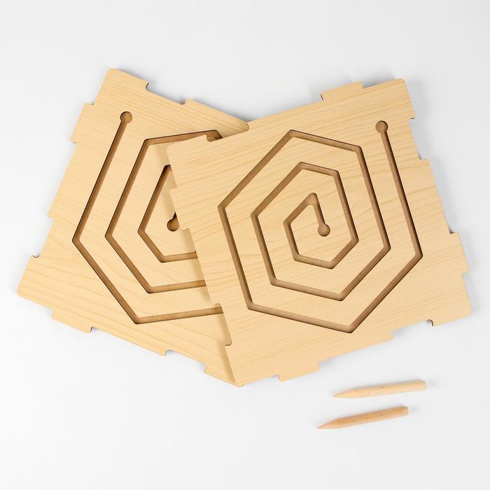 Графомоторный лабиринт «Шестиугольник» (бизиборды)