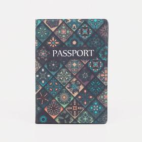 Обложка для паспорта, цвет разноцветный Ош