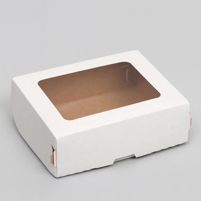 Контейнер на вынос, белый, 10 х 8 х 3,5 см