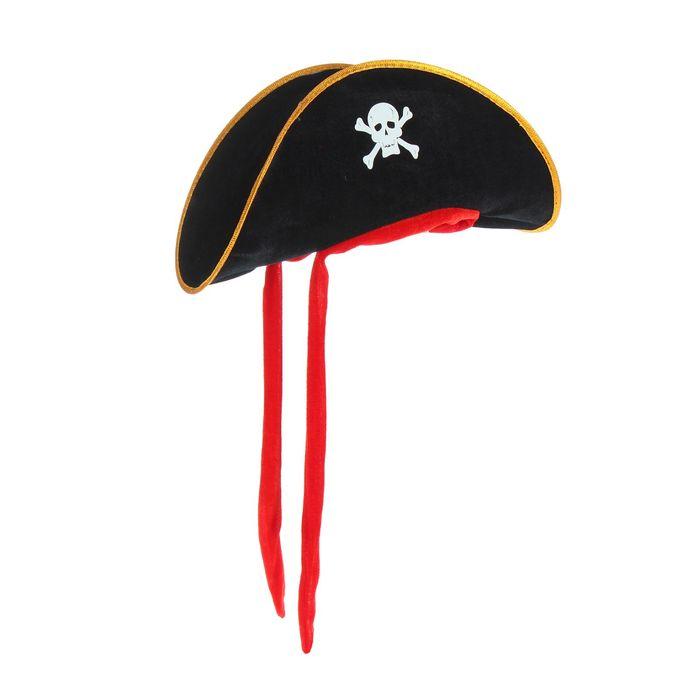 Шляпа Пират, текстиль, р. 60
