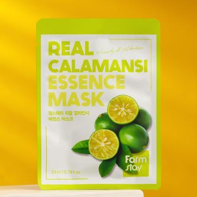 Тканевая маска для лица FarmStay с экстрактом каламанси - Фото 1