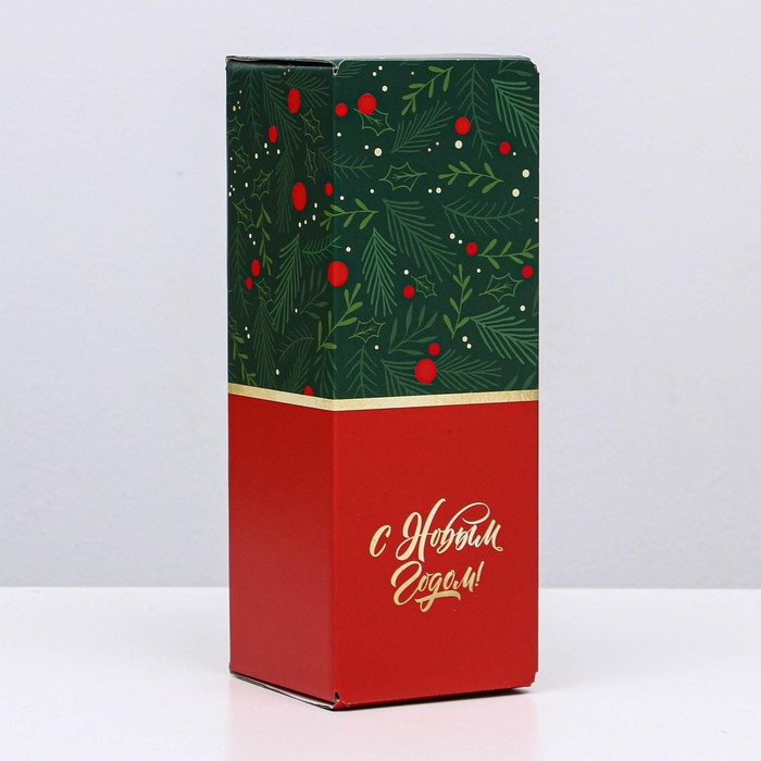 Коробка складная Новый год, 12 х 33,6 х 12 см
