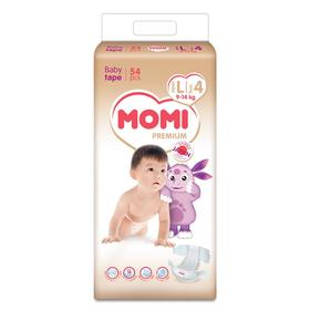 Подгузники MOMI Premium L (9-14 кг), 54 шт