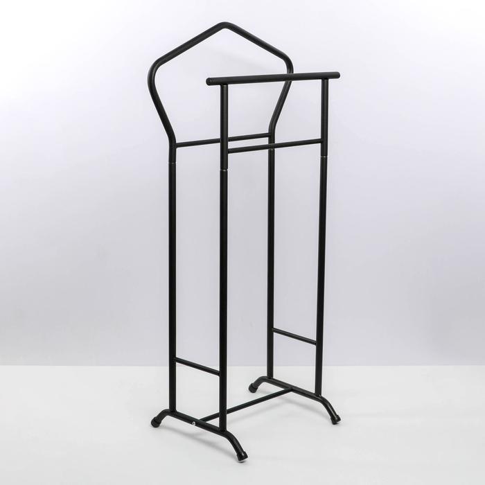 Вешалка костюмная, 37×34×104 см, цвет чёрный