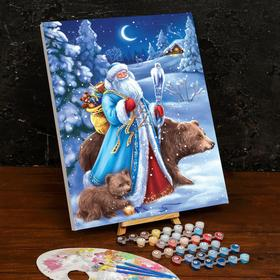 Картина по номерам на холсте с подрамником «Дед Мороз» 40×50 см