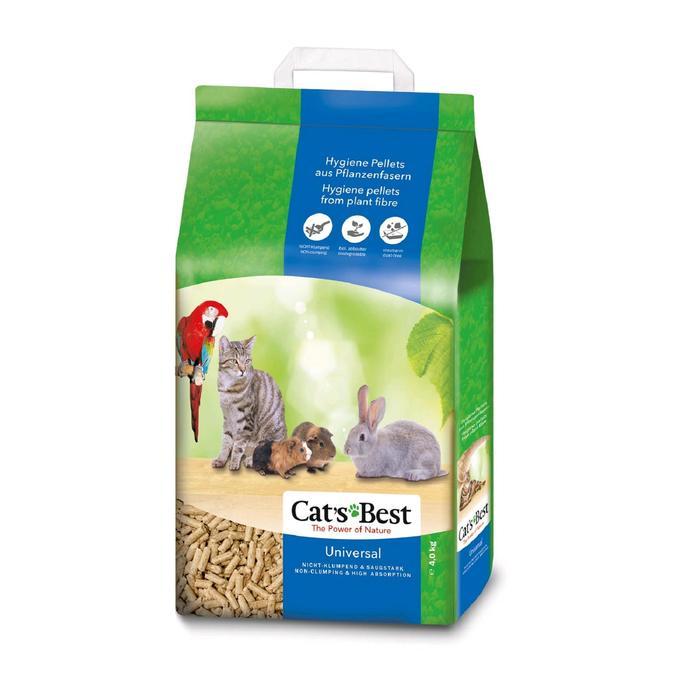 Наполнитель древесный впитывающий Cat's Best Universal, 7 л, 4 кг